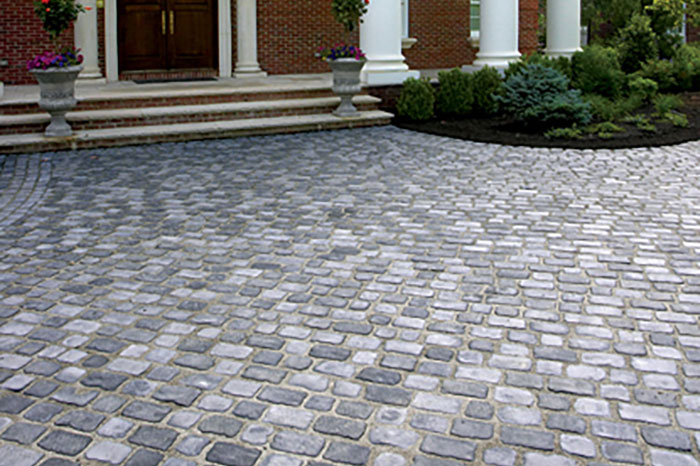 Cobblestone Paver Walkway Hamptons Long Island