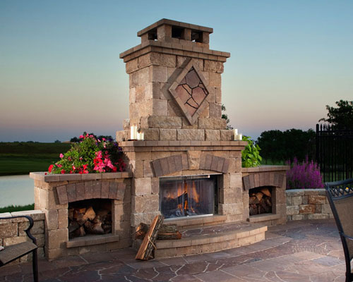 Outdoor Fireplace Design Gallery
