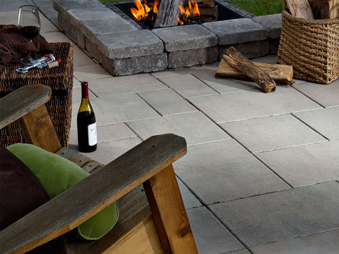Paver Patio with Sunken Firepit