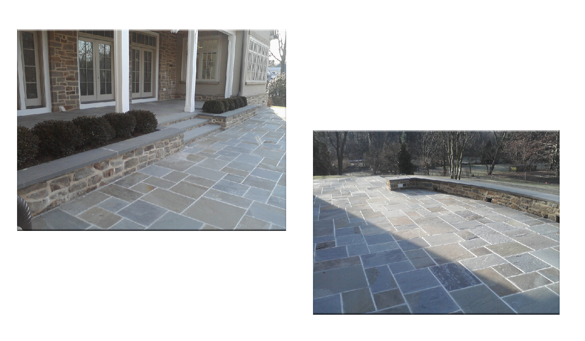 Bluestone Patio and Home Entrance by Hamptons Masonry Design