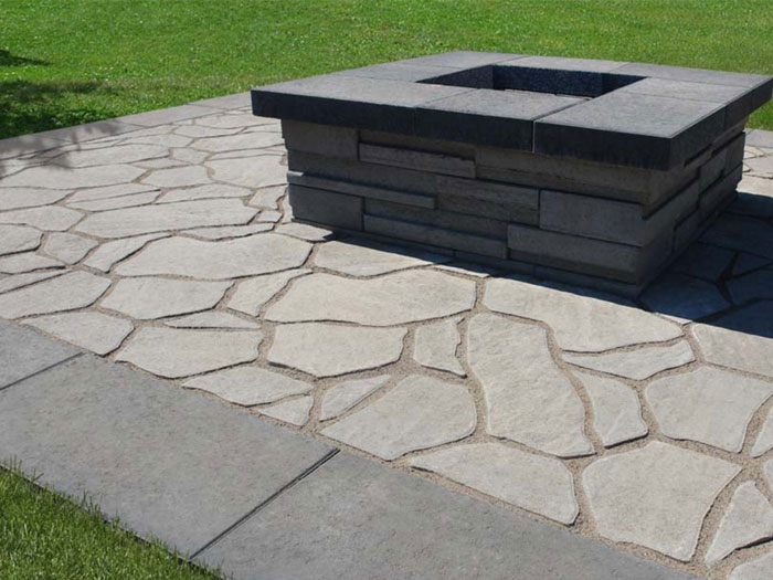 Contemporary Stone Design Firepit
