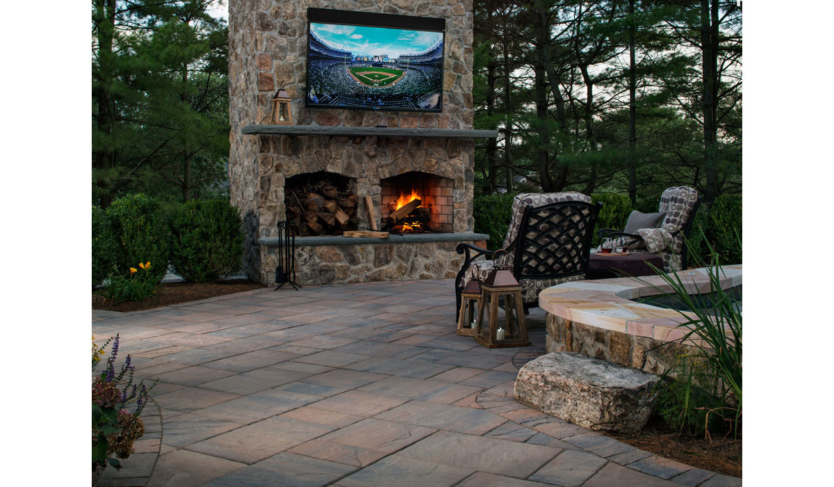 Outdoor Fireplace, Entertainment Center