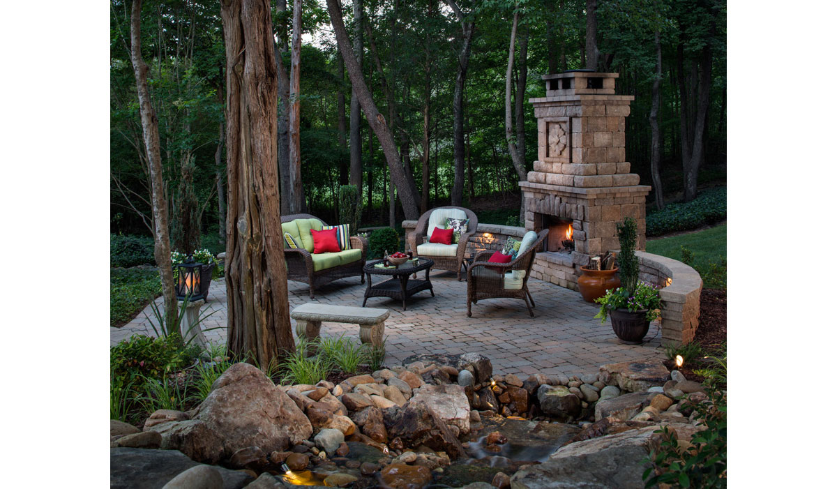 Outdoor Fireplace Sanctuary