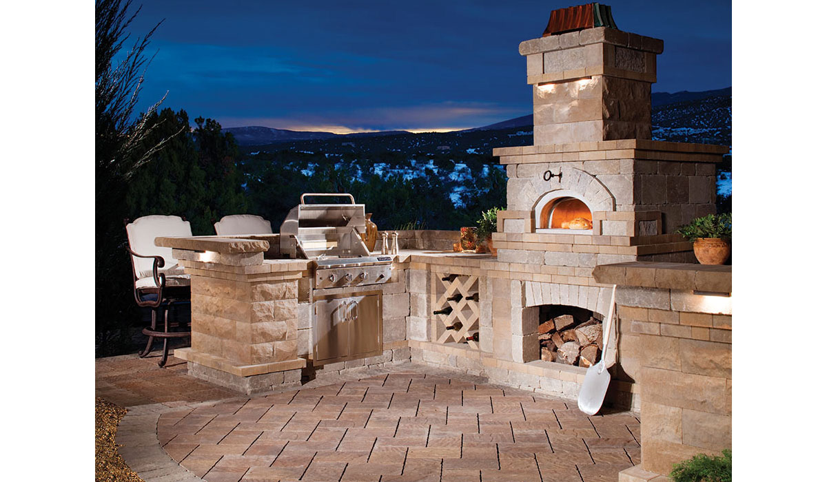Outdoor Fireplace, Cooking Center