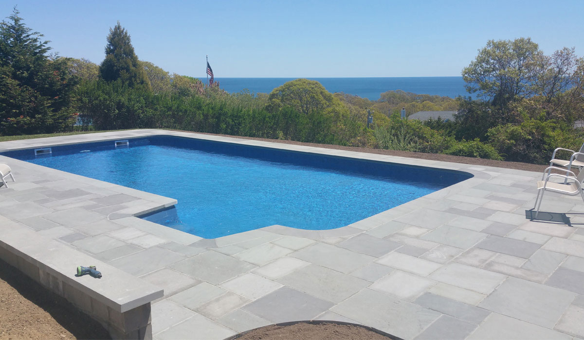 Thermal Bluestone Pool Patio Montauk NY